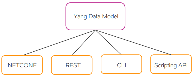 Figure 1: Brocade Vyatta Network OS common data model for all-API access